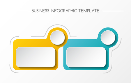 Concept of empty infographic template. Vector.