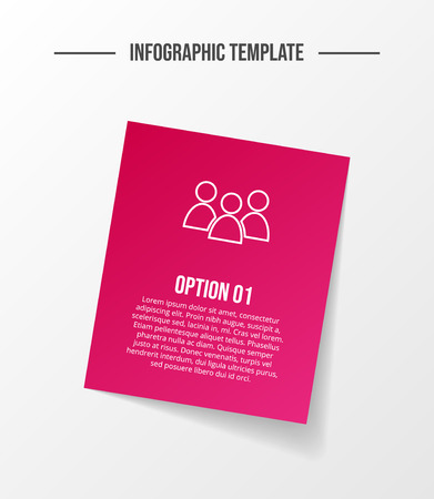 Colorful infographic template with business icons. Vector
