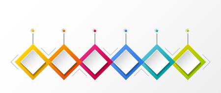 Concept of empty infographic with rhombus icons. Vector. Illusztráció