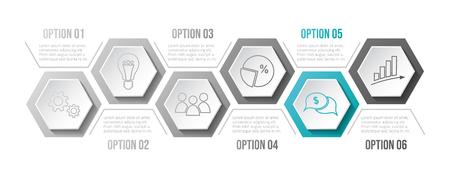 Business infograph with icons. Vector Illusztráció
