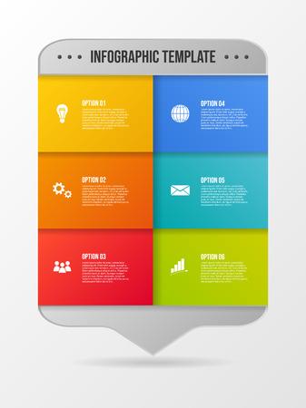 Infografía de negocios con iconos - plantilla de gráfico. Vector