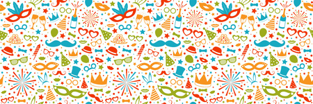 Carnival Party - concept of seamless pattern. Vector