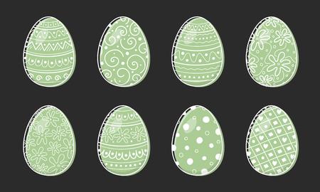 Hand drawn Easter eggs - set. Vector Ilustração