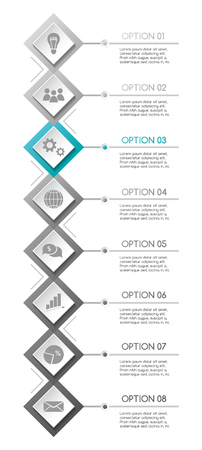 Company infographic template with business icons. Vector Imagens - 124991509