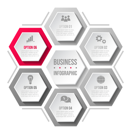 Company milestone with business icons - company timeline. Vector