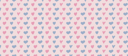 Cute seamless texture with colorful hearts. Valentines Day, Mothers Day and Womens Day. Vector
