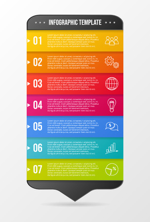 Company infographic template with business icons. Vector Ilustração