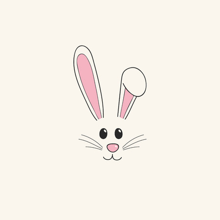 Easter bunny - hand drawn illustration. Vector