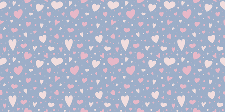 Beautiful background with hearts - seamless pattern. Valentines Day, Mothers Day and Womens Day. Vector