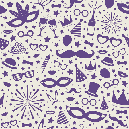 Colorful wallpaper with texture for Carnival Party. Vector