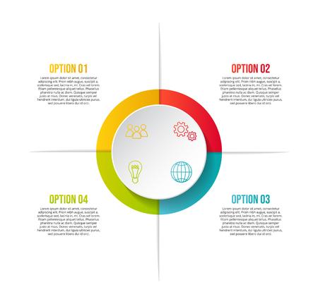 Progettazione di una timeline aziendale con icone di affari - modello di infografica.
