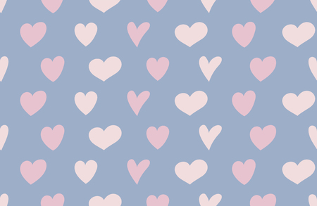 Concept of a wrapping paper with cute hearts. Valentines Day, Mothers Day and Womens Day. Vector Ilustração