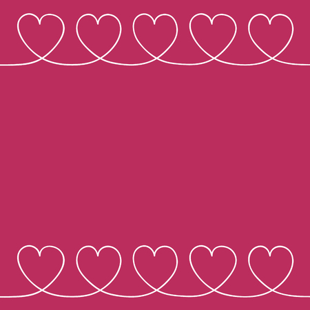 Empty background with hand drawn hearts - Valentines Day, Mothers Day and Womens Day concept. Vector