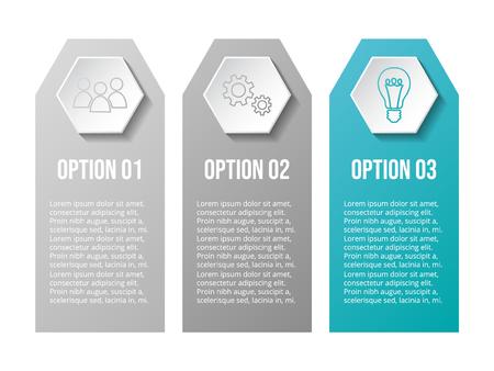 Design of gray company infographic with icons. Vector Illusztráció