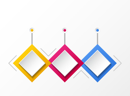 Concept of empty infographic with rhombus icons. Vector. Illustration