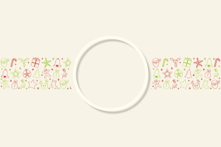 Christmas background with beautiful decorations and copyspace. Vector.