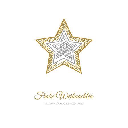 Frohe Weihnachten und Gluckliches Neues Jahr - german Christmas wishes. Vector. Illustration
