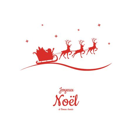 Joyeux Noel - translated from french as Merry Christmas. Vector