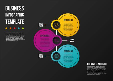 Concept of a colorful infographic with business icons - infographic template. Vector