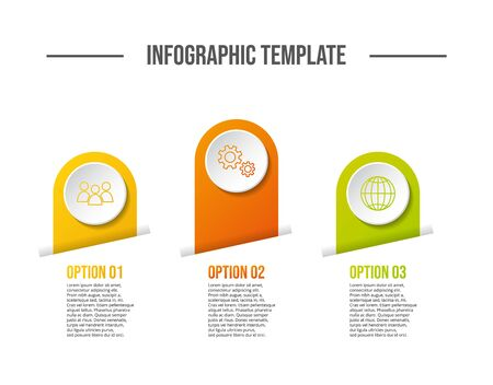 Round infographic template - business timeline. Vector  イラスト・ベクター素材