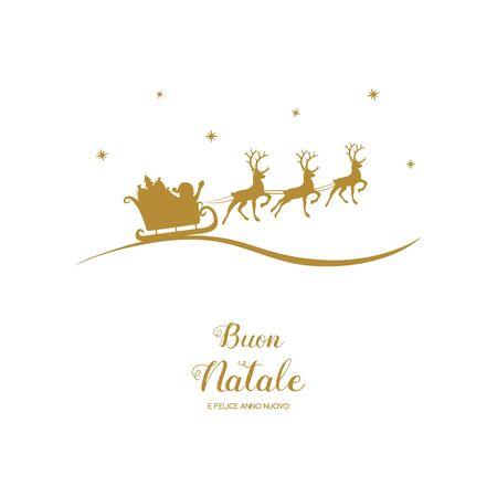 Buon Natale e Felice Anno Nuovo - italian Christmas wishes. Vector