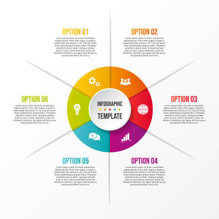 Concept of company timeline - business infograph. Vector