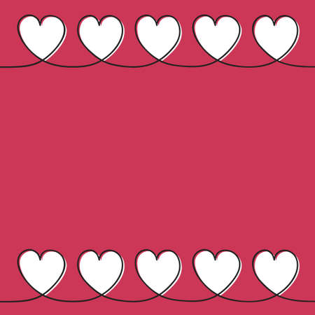 Background with cute hand drawn hearts for Mother's Day, Women's Day and Valentine's Day. Vector