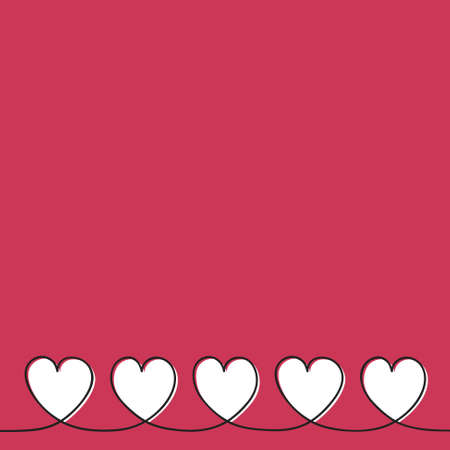Empty background with hand drawn hearts - Valentine's Day, Mother's Day and Women's Day concept. Vector