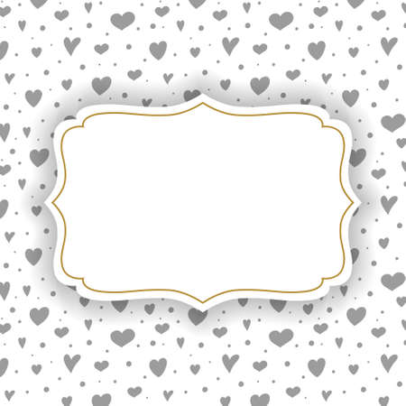 Concept of a greeting card with hearts and copyspace. Vector