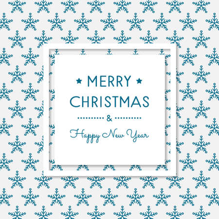 Vintage Christmas card with hand drawn snowflakes. Vector. Vettoriali