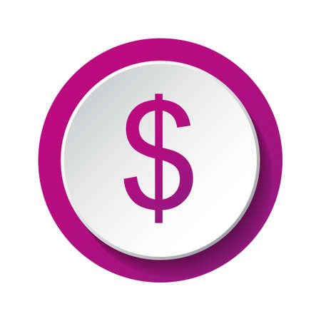 American dollar - 3d icon isolated on white background. Vector. Vectores
