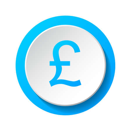 British pound - 3d icon isolated on white background. Vector.