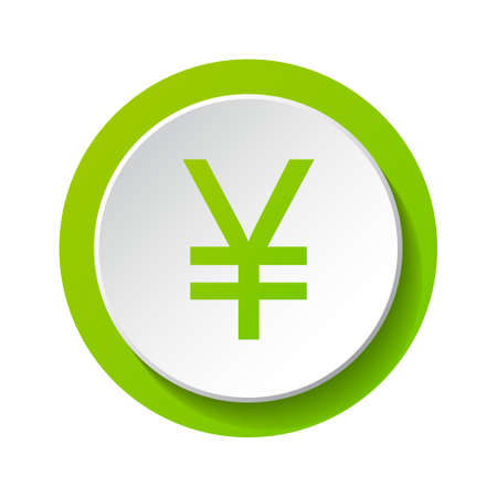 Yen - 3d icon isolated on white background. Vector.