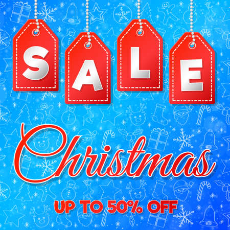 Concept of poster Christmas Sale. Vector.