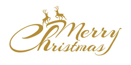 Beautiful Christmas typography with decorations and wishes. Abstract Christmas card.