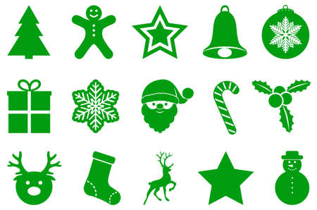 Collection of Christmas ornaments. Vector.