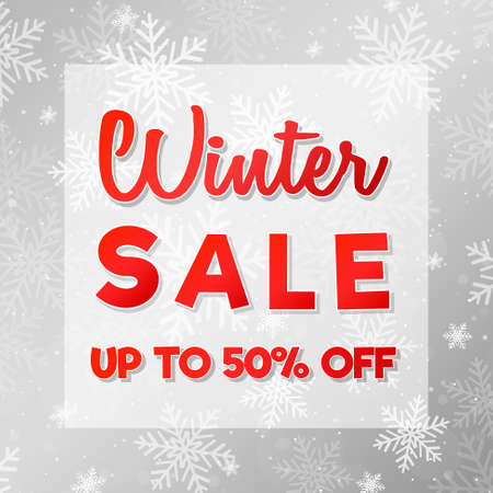 Big Winter Sale - shiny poster. Vector.