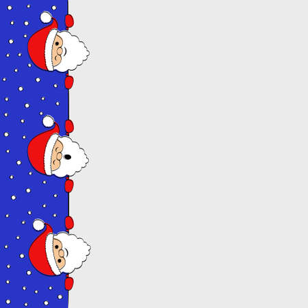 Background with cartoon Santa Claus. Vector.