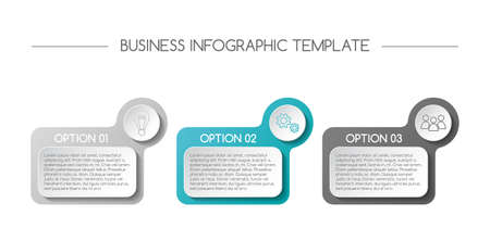 Business infograph with icons. Vector Illustration