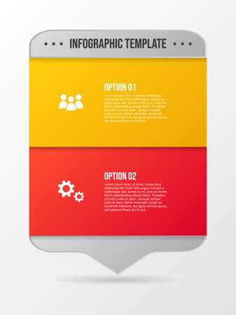 Design of colorful company infographic with icons. Vector Illustration