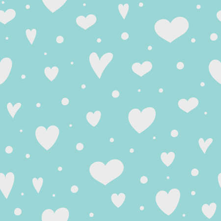 Cute seamless texture with colorful hearts. Valentine's Day, Mother's Day and Women's Day. Vector