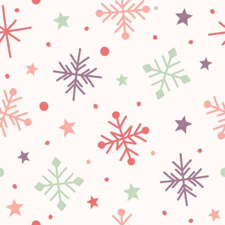 Design of Xmas pattern with snowflakes. Christmas concept. Vector