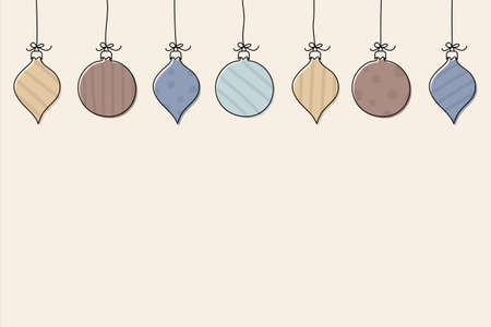 Design of a background with Christmas balls. Vector Illustration
