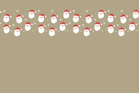 Design of a Christmas background with smiley Santa Claus. Vector