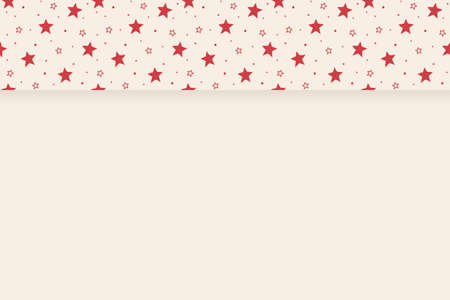 Empty card with stars. Christmas concept. Vector Illustration