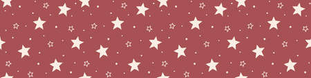 Christmas pattern with stars. Wallpaper concept. Banner. Vector Illustration