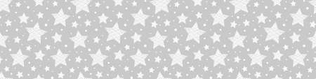 Christmas pattern with star icons. Xmas background. Vector Illustration