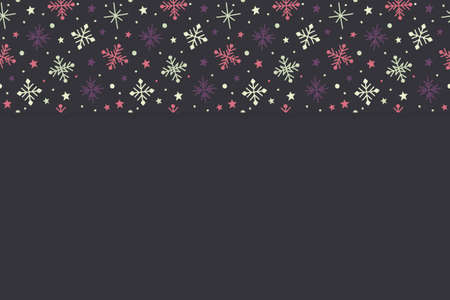 Concept of a Christmas background with snowflakes. Vector