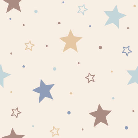 Christmas pattern with stars. Wallpaper concept. Vector