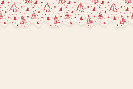 Empty card with Christmas trees concept. Vector